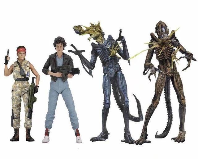 Aliens vs Predator Series LT.Ellen Ripley Bomber Jacket Xenomorph Warrior Battle Damaged Toy Action Figure Model Doll