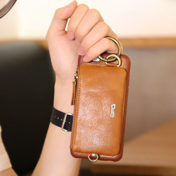 Luxury Genuine Leather Wallet Belt Case For <font><b>iPhone</b></font> 7 7 Plus 6 6s Plus Phone Cover Pouch