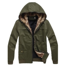 ZOGAA Army Green Men Jacket Cotton Fur Feather Classic Popular Men's Coat Parkas недорого