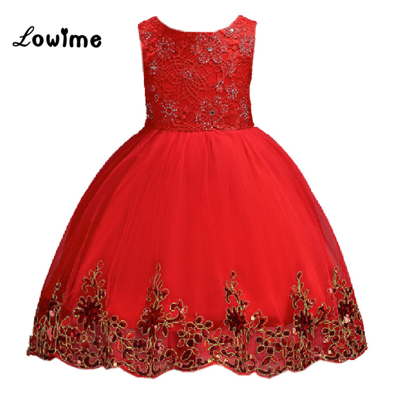 Beauty   Flower     Girl     Dresses   Gold Applique   Flower     Dress   For Weddings Ball Gown With Big Bow   Girls   Prom   Dresses   Vestido De Daminha