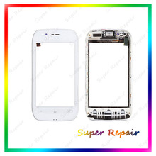 High Quality For Nokia lumia 710 touch screen Digitizer with bezel Frame  White Color Free shipping !