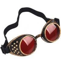 C. F. Gogle wysokiej jakości okulary przeciwsłoneczne mężczyźni Steampunk gogle okulary do spawania Punk Gothic okulary Cosplay Unisex Vintage okulary
