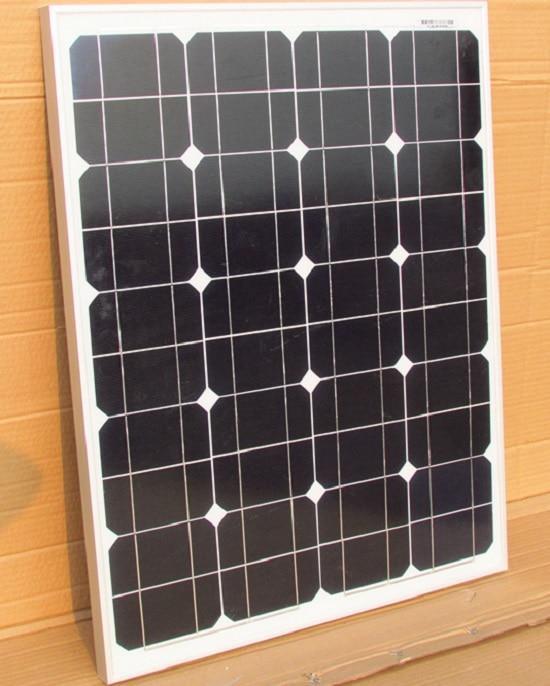 New 60W Monocrystalline Solar Panel Solar Module+Crocodile Clip For 12V System/Car/Boat/ Battery/Motor Grade A