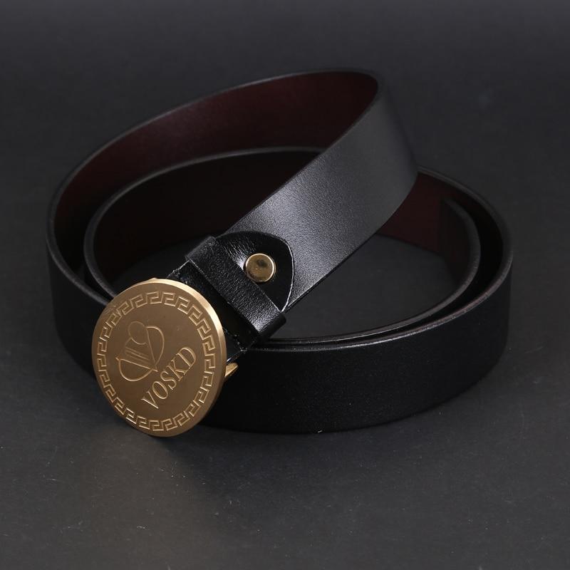 2016 högkvalitativa VOSKD bälten för äkta läder herrar guld - Kläder tillbehör
