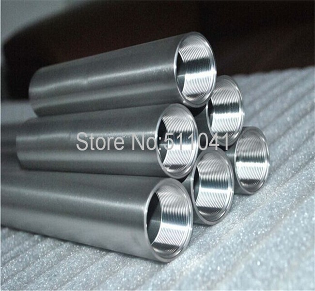 grade9 Gr9 titanium tube titanium tubing with thread 40*3.5*150mm 8pcs and 40*3.5*200mm 2pcs