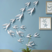 Resin 3d Swallow Birds figurine wall Stickers home decor accessories for living room decoration stickers