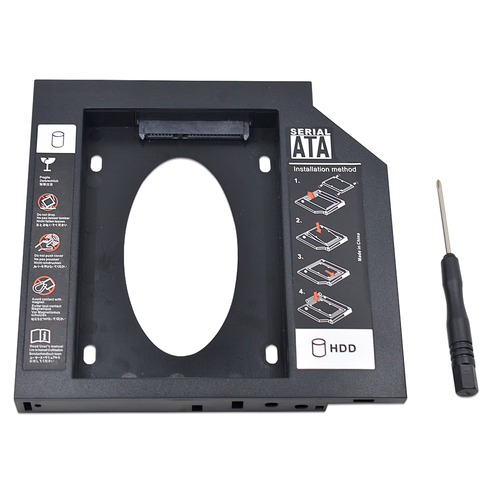 SATA 2nd HDD SSD Hard disk drive caddy Adapter Bay for HP TouchSmart tx2 AD-