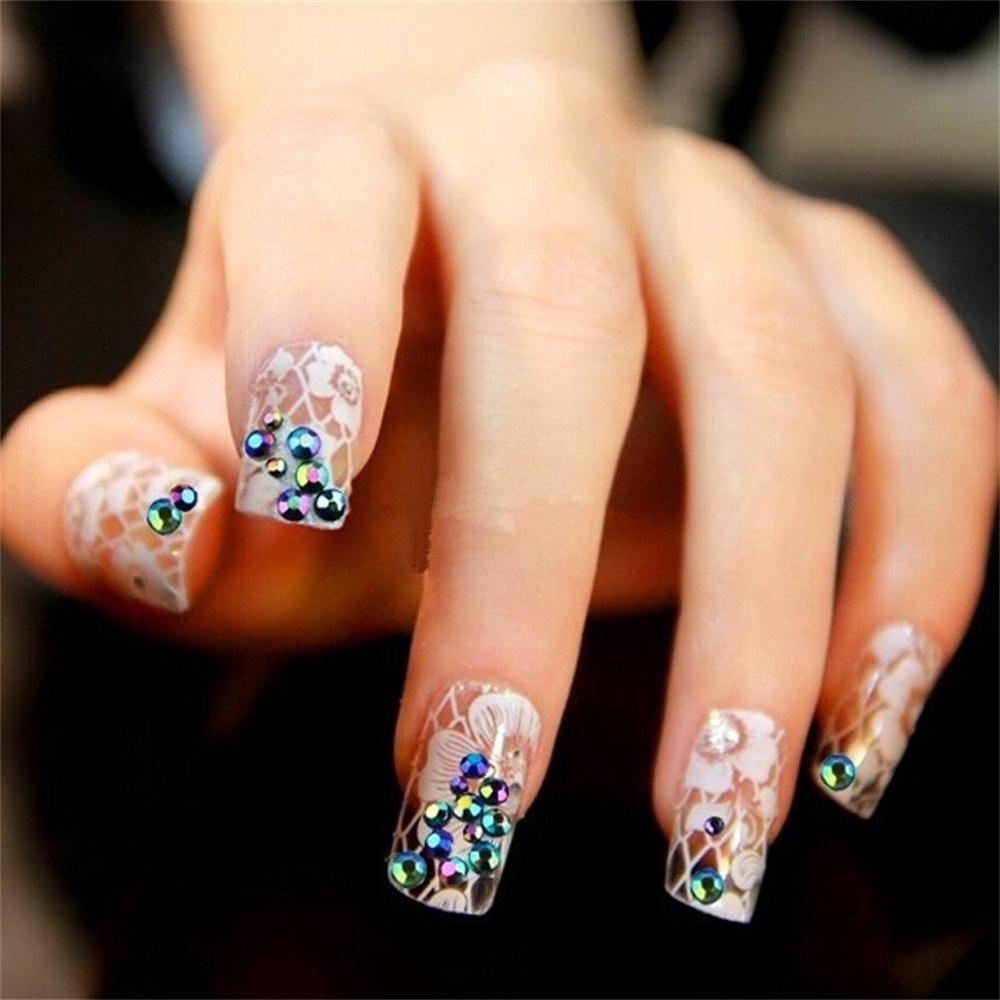Fashion Nail Art Beads 2000Pcs/pack 2mm 3D Round AB Rhinestone ...