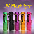 Professional Fluorescent agent detection UV torch 395nm led Flashlight lamp purple violet light For 18650 or AA battery