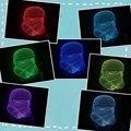 Luminarias Lamparas Mood Lámpara de Luz de La Noche Llevó Luces de La Noche de la Ilusión 3D 3D Star Wars 3D Niños Luces de la Lámpara del nightlight Visual