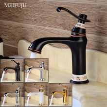 New Brass Basin Faucet Chrome Black Faucet Gold White Sink  Mixer Tap Vanity Faucet Hot Cold Water Bathroom Faucet Deck  Mounted недорого