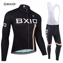 BXIO Invierno Maillot Ciclismo Hombres Cycling Set Thermal Fleece MTB Bike Clothing Long Pro Team Autumn Bicycle Clothes 095