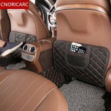 Cnoricarc автокресло спинки анти удар площадку для Mercedes Benz E class W213 e300l e200l e320l 2016-17 кожа анти грязный коврик