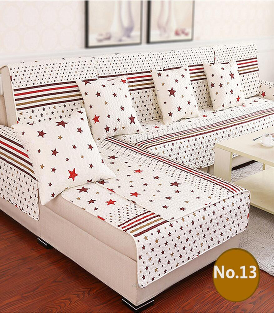 Anti Skid Sectional Sofa Covers Cotton Sofa Backrest Cover