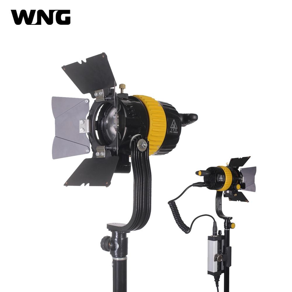 FW-500D 50W Mini Portable LED Fresnel Spot Light Continuous Video Light for Film Camera Video Studio for film 300w 1000w 2 dimmer 4 fresnel tungsten spot light camera video studio
