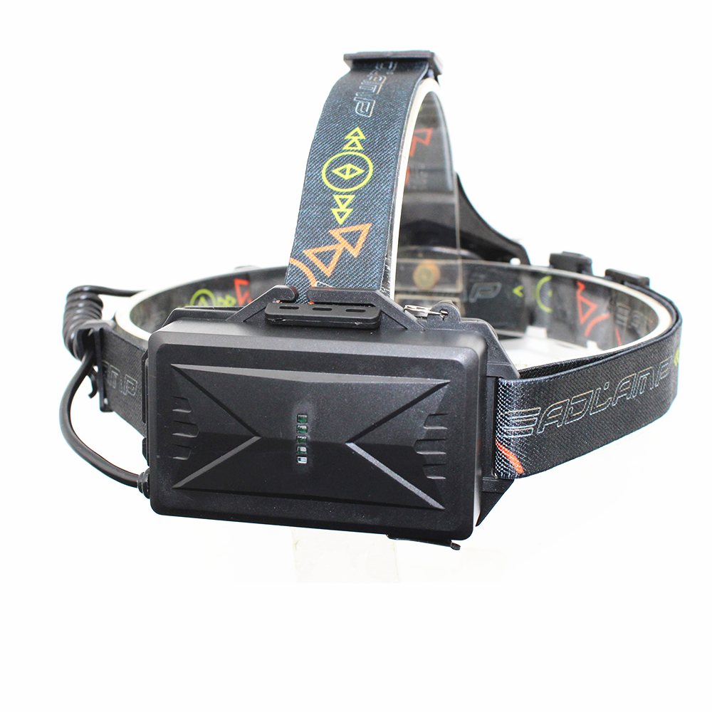 New 2 x XM-L T6 LED Headlight USB Rechargeable Headlamp Head Lamp Light with USB Charging Cable