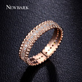 NEWBARK Wedding Engagement Ring Rose Gold Plated Paved Micro cubic zirconia Finger Rings For Women Christmas Gift Jewelry