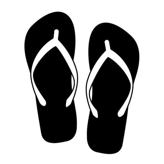 Zomer Slippers Styling Cut Vinyl Auto Decal Art Stickers Waterdicht Zomer Bumper Decor L207