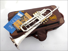 Профессиональный Бах Трубы серебро трубы Средства ухода за кожей позолоченный ключ резные BB Трубы падение Регулируемый trompete инструмент tr-197gs