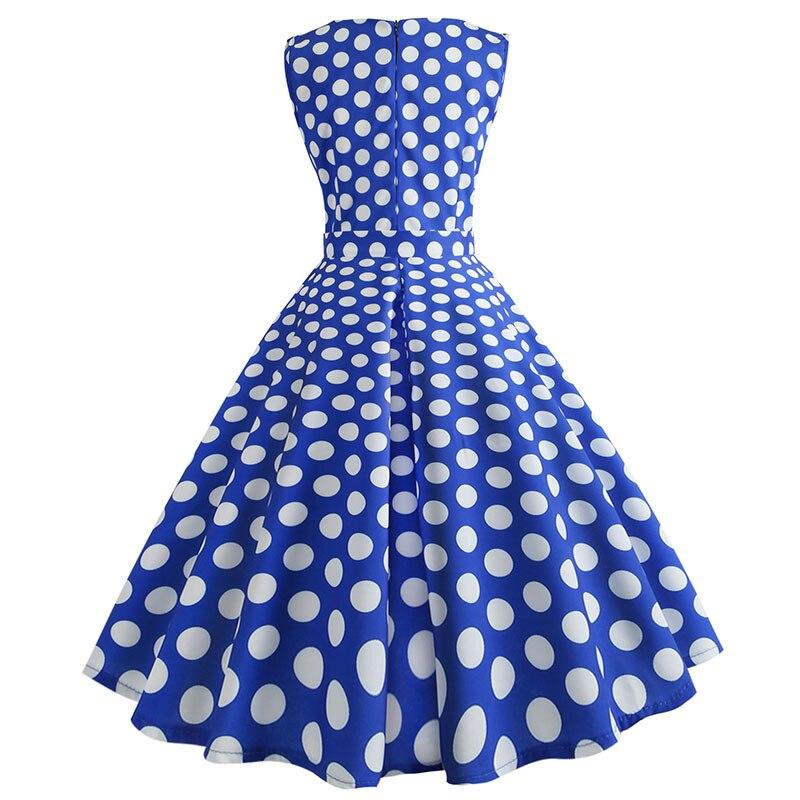 Retro letné párty šaty 1950 s bodkami Swing style (8 variánt) 20