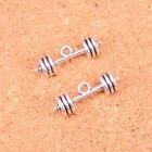 ✔  Тибетское Серебро фитнес-оборудование штангой Подвески Ювелирных Изделий 25   7   7 мм ✔