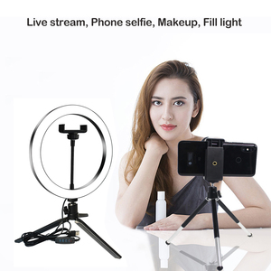 Image 5 - Selfie Lamp LED Studio Camera Ring Light Photo Phone Video Light Lamp With Tripods Selfie Stick Ring Table Fill Light For Canon