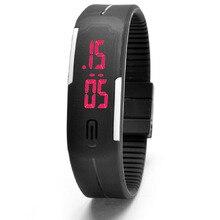 Лидер продаж Мужская Спорт LED Watch умный взгляд Для мужчин наручные Для женщин модные часы школьница Обувь для мальчиков подарок белый край A736
