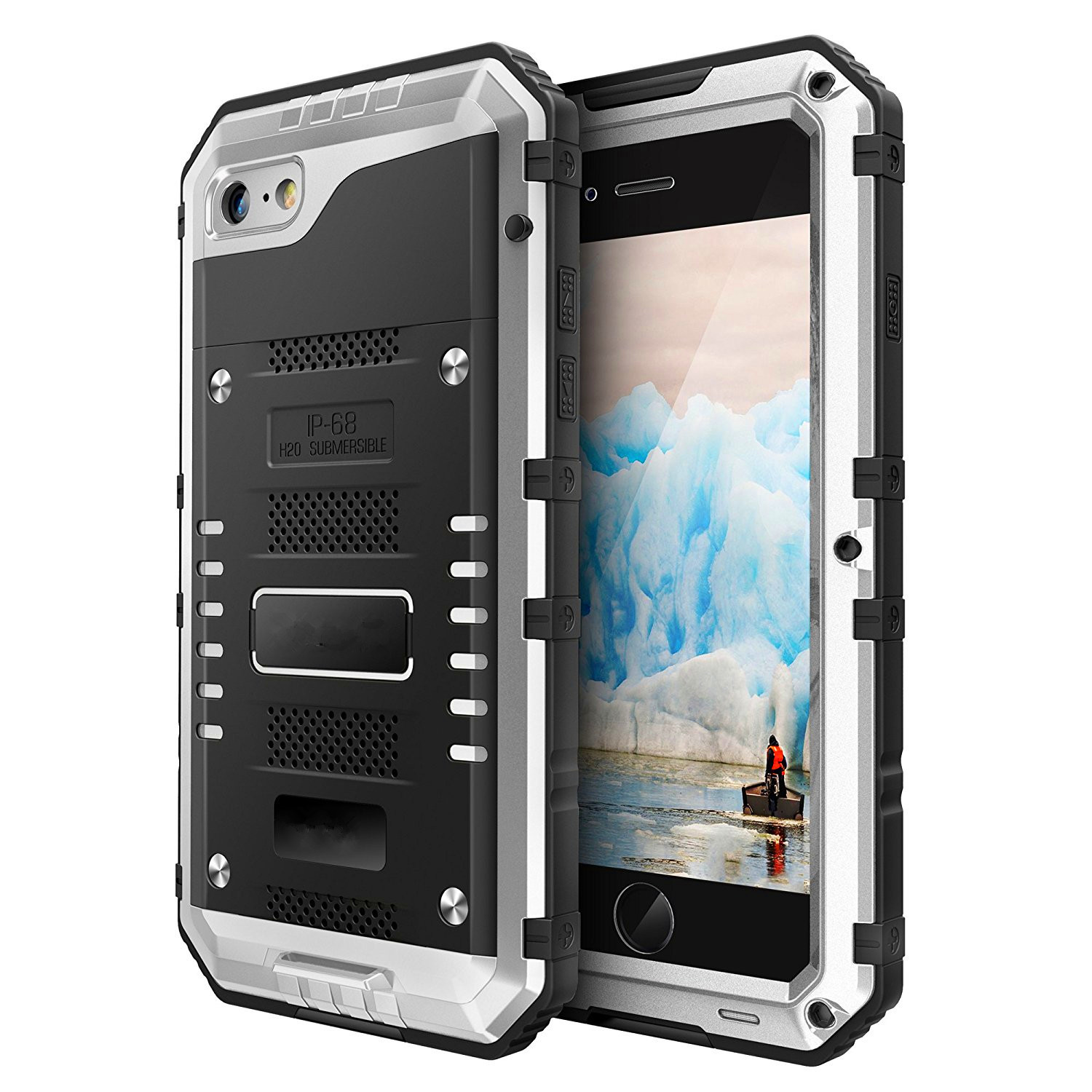Wasserdicht <font><b>IP68</b></font> Stoßfest Heavy Duty Hybrid Tough Rugged Rüstung Metalltelefonkasten für iPhone 8 6 6 s 7 Plus X 5 5 s SE Abdeckung Coque image