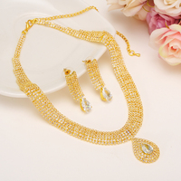Bangrui Fashion Bridal Jewelry Sets Wedding Necklace Earring for Bride Party Costume Accessories Indian Jewelry Set Decoratio