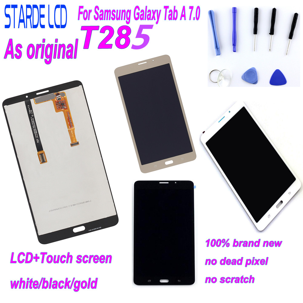 STARDE LCD for Samsung Galaxy Tab A 7.0 T285 SM-T285 3G Version LCD Display Touch Screen Digitizer Assembly with Tools Adhensive