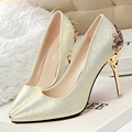 New Sexy Mental Woman High Heels Pumps Red High Heels 10CM Women Shoes High Heels Wedding Shoes Pumps Black Nude Shoes Heels