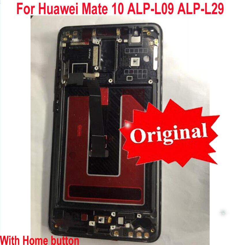 Original Best Frame+ LCD Display Touch Screen Digitizer Assembly+ Fringerprint Sensor For Huawei Mate 10 Mate10 ALP-L09 L29 AL00Original Best Frame+ LCD Display Touch Screen Digitizer Assembly+ Fringerprint Sensor For Huawei Mate 10 Mate10 ALP-L09 L29 AL00