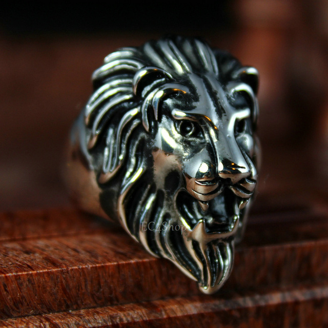 Fabuleux Dei nuovi uomini di biker anello testa di leone re di animale  ER46