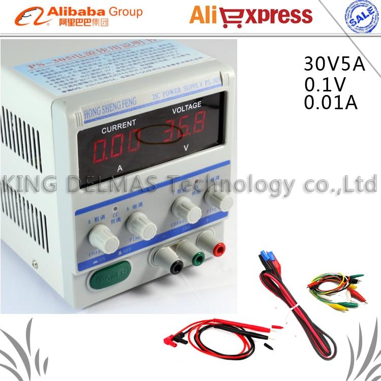 PS-305 Digital Adjustable DC Power Supply 0-30V 0-5V For Lab Notebook computer repair EU Plug 220V cps 6011 60v 11a digital adjustable dc power supply laboratory power supply cps6011