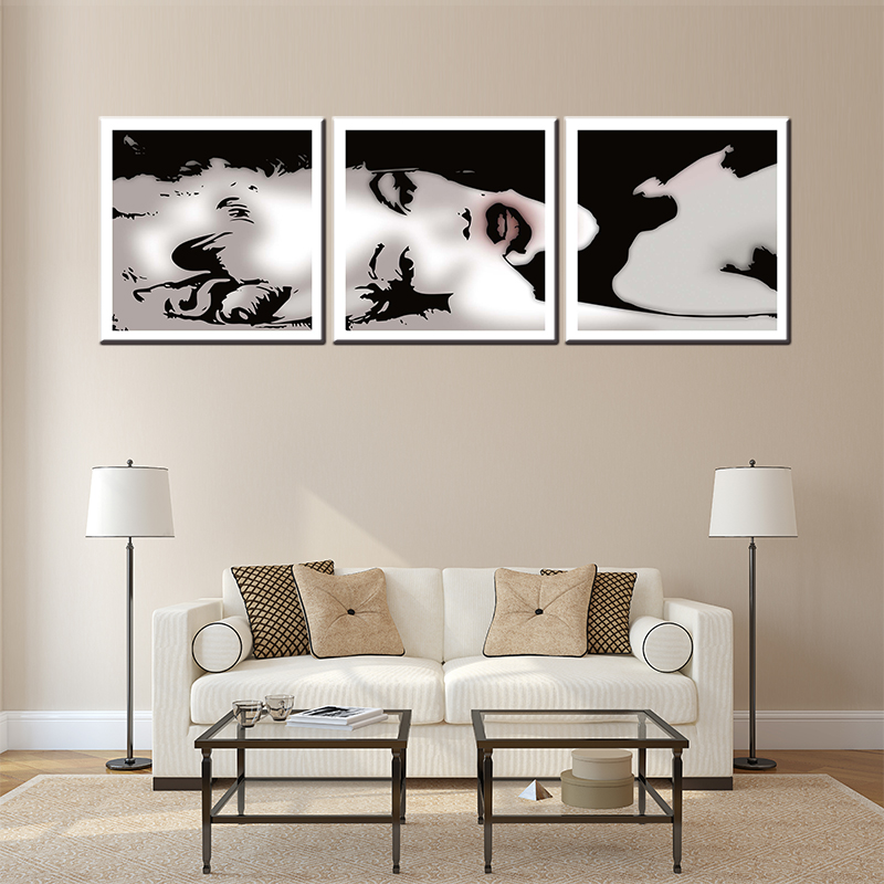 3 pieces about famous movie star USA Norma Jean Remix canvas painting for living room wa ...