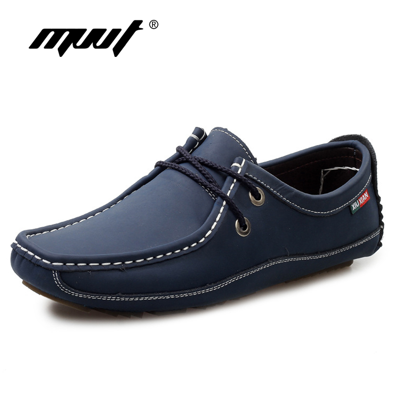 2017 Fashion Casual Shoes Men Flats Genuine Leather Men Loafers Shoes Lace Up Soft Leather Men Casual shoes Mocassins hot sale genuine leather men casual shoes black brown men flats handmade men father shoes lace up men shoes dropship