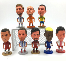 [New] Collection 6.5cm Madrid Cristiano Ronaldo Messi Neymar Pogba model Action Figure Jersey Football star toy kids gift