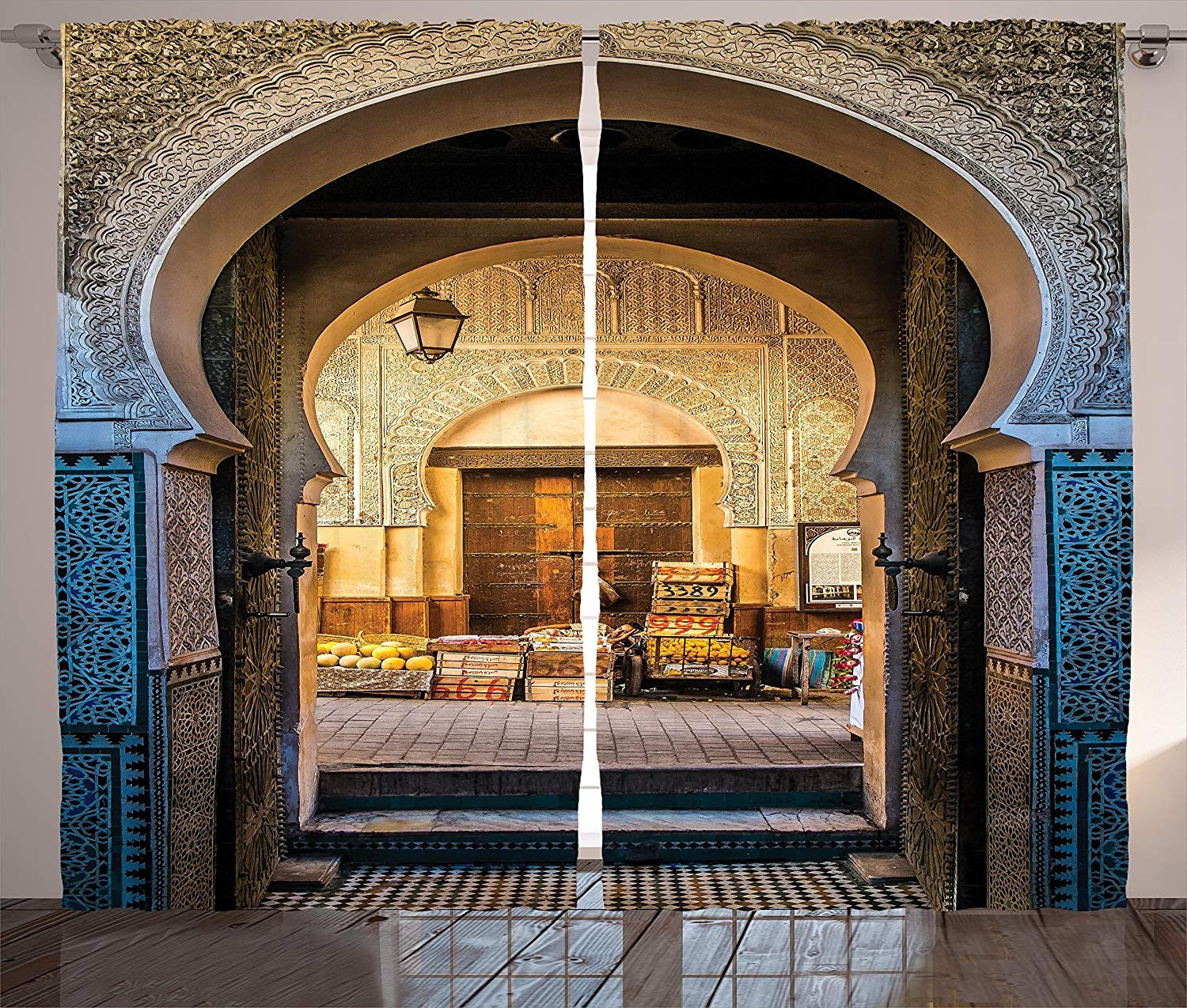 Moroccan Curtains Typical Moroccan Door To Old Medina Mediterranean Historical Arch Entrance Photo Living Room Bedroom Window
