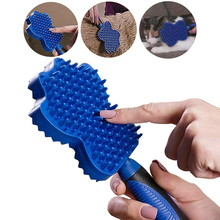 3 IN 1 Professional Pet Grooming Brush Soft Silicone Dog Shedding Comb Magic Hair Removal Tool Cat Bath Massage Cleaning Brushes