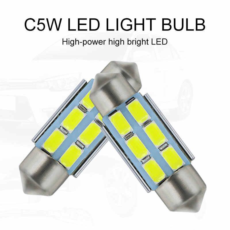 39 Mm CANBUS Kesalahan Gratis Lampu Plat Nomor Lampu LED C5W untuk BMW 3 Seri 5 E36 E46 E34 e39 E60 X5 E53 (00-07) m5