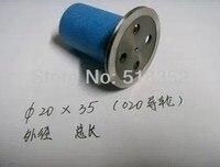 Xieye 020 assembleia da roda guia com latão e plástico / de segurança e de corte do fio EDM peças  Od20mmx L35mm