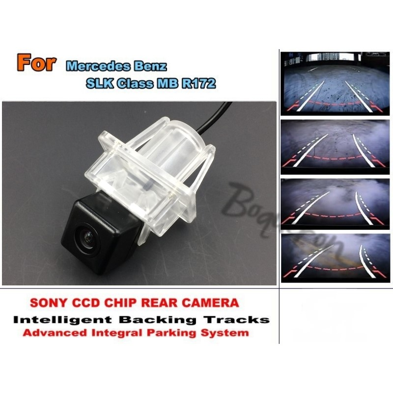 For Mercedes Benz SLK Class MB R172 Car Intelligent Parking Tracks Camera / HD CCD Back up Reverse Camera / Rear View Camera for mercedes benz c class mb w205 2014 2016 smart tracks chip camera hd ccd intelligent dynamic parking car rear view camera