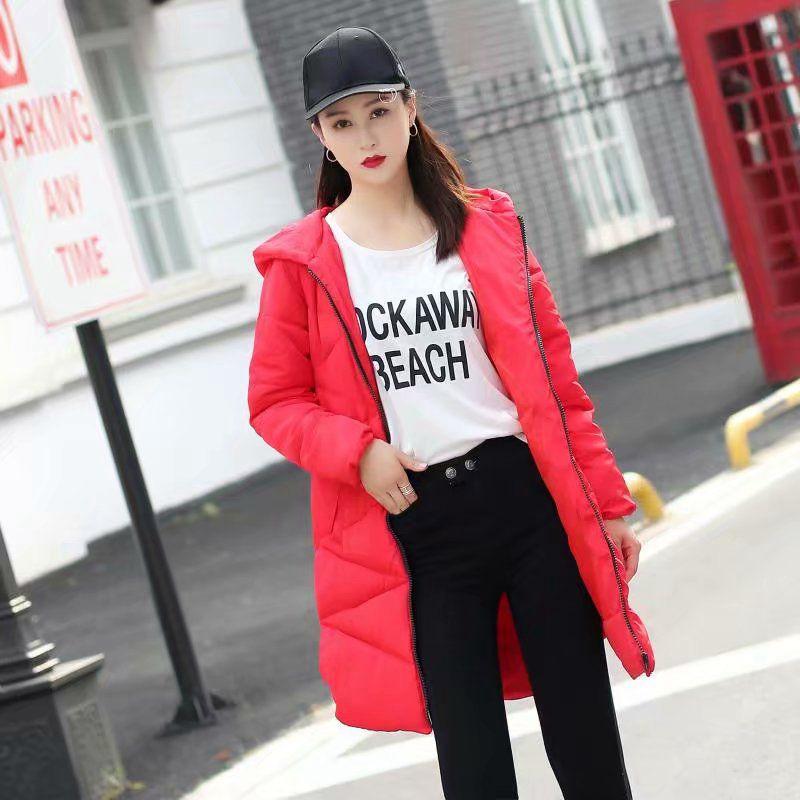 rouge La Femelle Les Manteau Longue Épais Femmes Taille D'hiver Parkas Coton Plus rose Pour Veste Chaud Nouvelle Noir qT1Pwxw