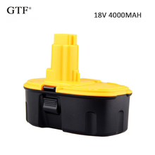 цена на 18V 4.0A 4000mah Rechargeable NI-CD Battery Portable Replacement Battery Backup Battery For Dewalt DC9096  Electric Power Tool
