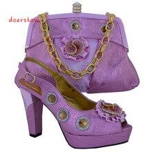 Doershow оптовая продажа Туфли-лодочки в африканском стиле с сумкой модные итальянская обувь и комплекты с сумкой для вечеринок! VL1-26