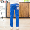 Autumn elastic waist trousers for boys 100% cotton trousers for kids fashion boys full length casual pants loose pants spring