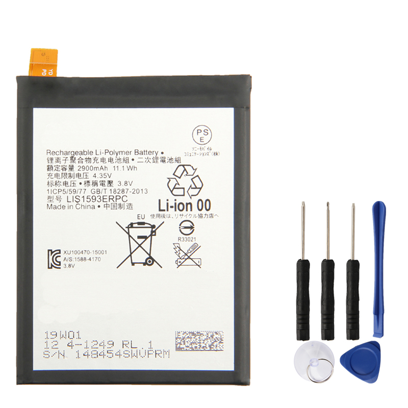 Original Replacement Battery LIS1593ERPC For Sony Xperia Z5 E6883 Authentic Phone Batteries 2900mAh