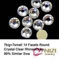 High Shine Crystal Clear Strass Melhor Do Que AAAAA Strass Strass De Vidro Redonda Pedrinhas Para Vestuário de Excelente Qualidade