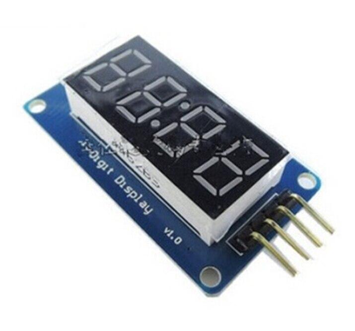 4 биты цифровой пробки светодиодный Дисплей модуль с часами Дисплей для Arduino Бесплатная доставка