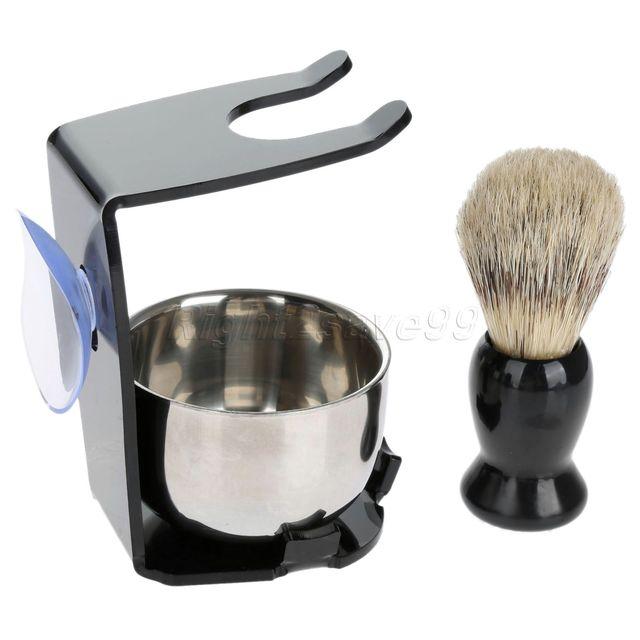 Shaving Brush Set  Shaving Razor Badger Hair Shaving Brush With Stand Holder Beard Shaving Kit Soap Bowl Cleaning Brush 5